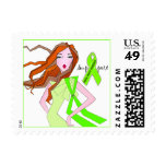 Mental Health Awareness Diva Postage / Diva Lime