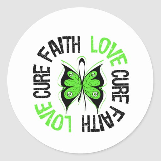 Mental Health Awareness Faith Love Cure Round Stickers