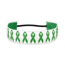 Mental Health Awareness Green Ribbon Athletic Headband