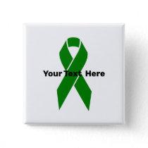 Mental Health Awareness Green Ribbon Button