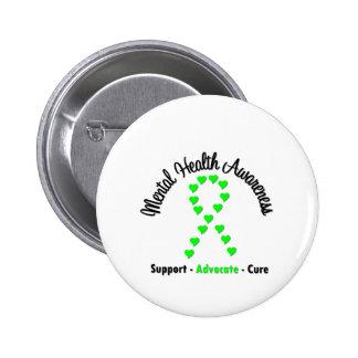 Mental Health Awareness Heart Ribbon Pin