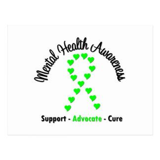 Mental Health Awareness Heart Ribbon Postcard