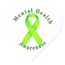 Mental Health Awareness Heart Sticker