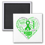 Mental Health Awareness Heart Words 2 Inch Square Magnet