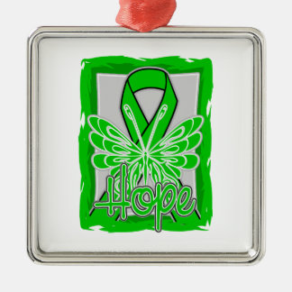 Mental Health Awareness Hope Butterfly Christmas Tree Ornaments