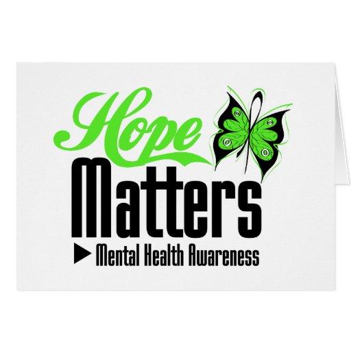 Mental Health Awareness Hope Matters Greeting Card