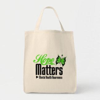 Mental Health Awareness Hope Matters Grocery Tote Bag