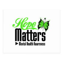 Mental Health Awareness Hope Matters Postcard
