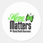 Mental Health Awareness Hope Matters Classic Round Sticker