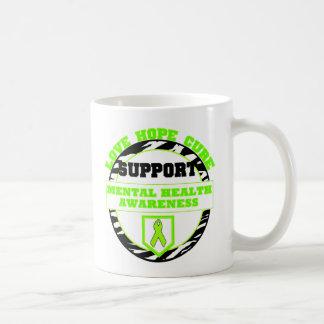 Mental Health Awareness LOVE HOPE CURE Mugs