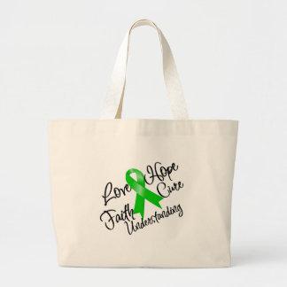 Mental Health Awareness Love Hope Understanding Large Tote Bag
