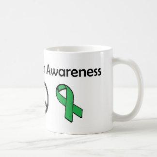Mental Health Awareness - Love Peace Awareness Coffee Mugs