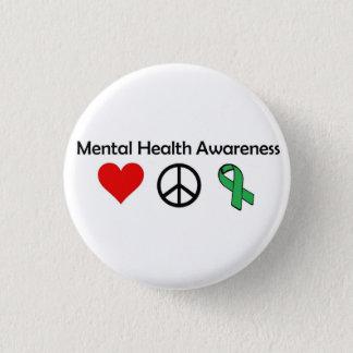 Mental Health Awareness - Love, Peace, Awareness Pinback Button