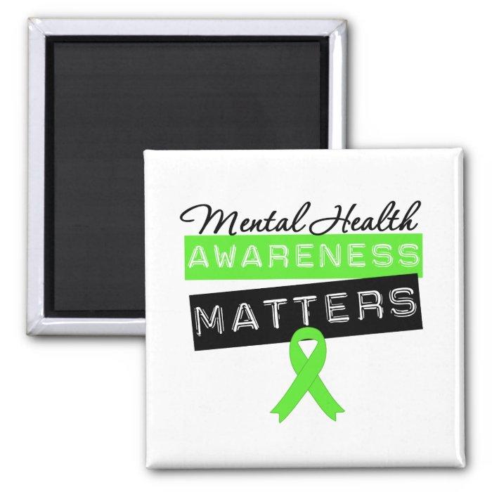 Mental Health Awareness Matters 2 Inch Square Magnet