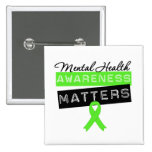 Mental Health Awareness Matters 2 Inch Square Button