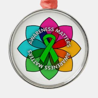 Mental Health Awareness Matters Petals Christmas Tree Ornaments