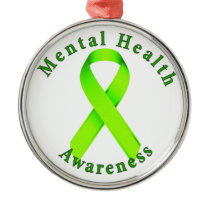 Mental Health Awareness Metal Ornament