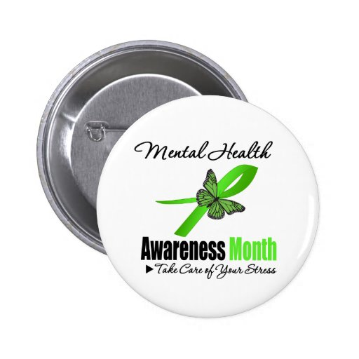 Mental Health Awareness Month 2 Inch Round Button