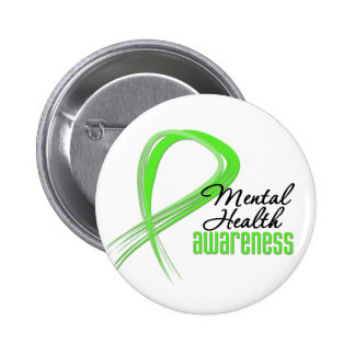 Mental Health Awareness Ribbon 2 Inch Round Button