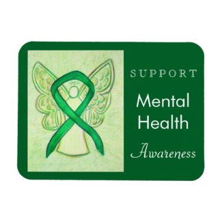 Mental Health Awareness Ribbon Angel Custom Magnet