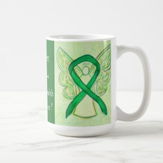 Mental Health Awareness Ribbon Angel Custom Mug