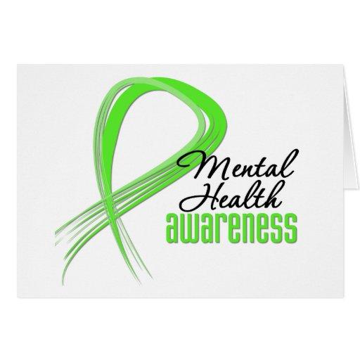 Mental Health Awareness Ribbon Greeting Card