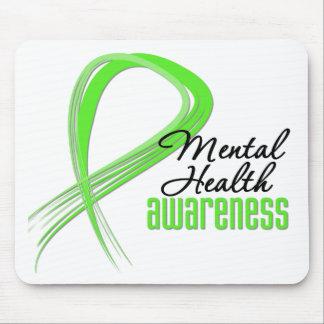 Mental Health Awareness Ribbon Mouse Pad