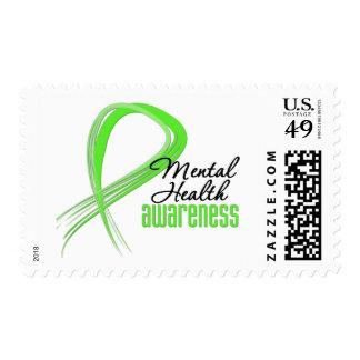Mental Health Awareness Ribbon Stamp