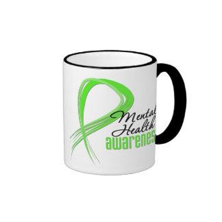 Mental Health Awareness Ribbon Ringer Coffee Mug