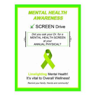 """""""Mental Health Awareness Screening"""" Postcards"""