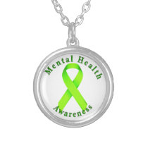 Mental Health Awareness Silver Plated Necklace