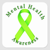 Mental Health Awareness Square Sticker
