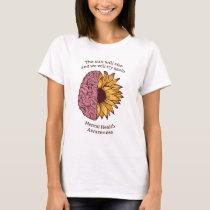 Mental Health Awareness Sunflower Brain T-Shirt
