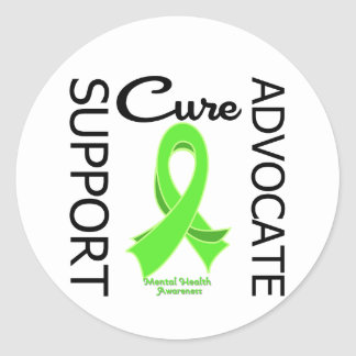 Mental Health Awareness Support Advocate Cure Stickers