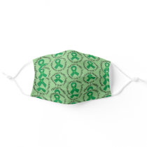 Mental Health Awareness Support Ribbon Adult Cloth Face Mask