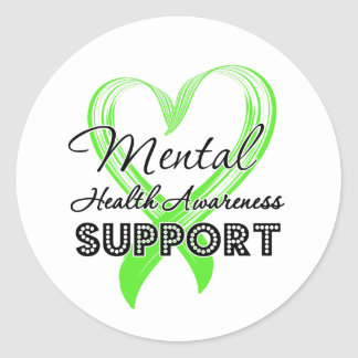 Mental Health Awareness - Support Classic Round Sticker