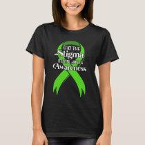 Mental Health Awareness T-Shirt Green Ribbon