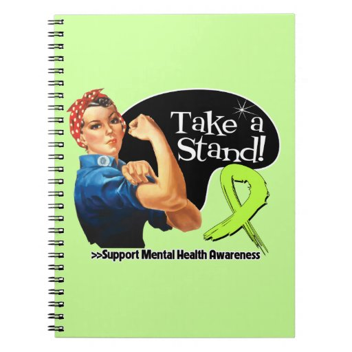 Mental Health Awareness Take a Stand Note Book