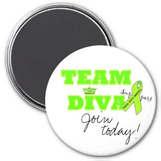 "Mental Health Awareness ""Team Diva"" magnets"