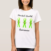 Mental Health Awareness Tiara Ribbon T-Shirts