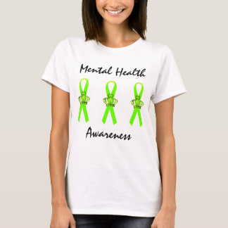 Mental Health Awareness Tiara Ribbon T-Shirts