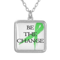 Mental health awarness silver plated necklace