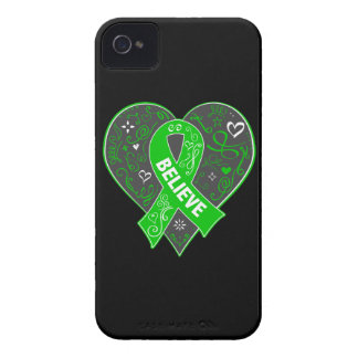 Mental Health Believe Ribbon Heart Case-Mate iPhone 4 Case