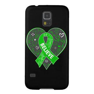 Mental Health Believe Ribbon Heart Galaxy S5 Case