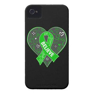 Mental Health Believe Ribbon Heart iPhone 4 Case