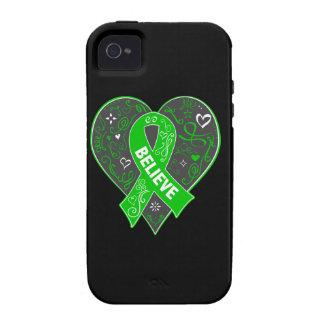 Mental Health Believe Ribbon Heart Vibe iPhone 4 Case