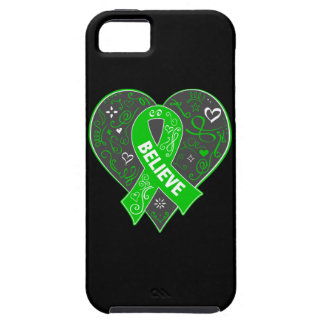 Mental Health Believe Ribbon Heart iPhone 5 Cases