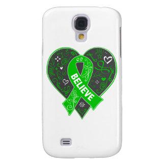 Mental Health Believe Ribbon Heart Samsung Galaxy S4 Case