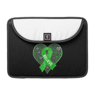 Mental Health Believe Ribbon Heart MacBook Pro Sleeves