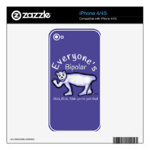 Mental Health Bipolar Decal For iPhone 4